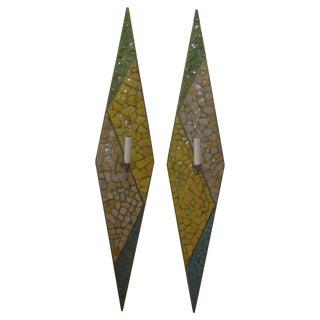 Joseph Malekan Sconces with Persian Mosaic - Pair