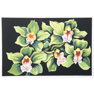 """Green & White Irises"" Print"