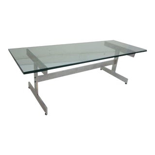Glass and Aluminium Coffee Table