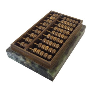 Brass & Marble Abacus Paperweight