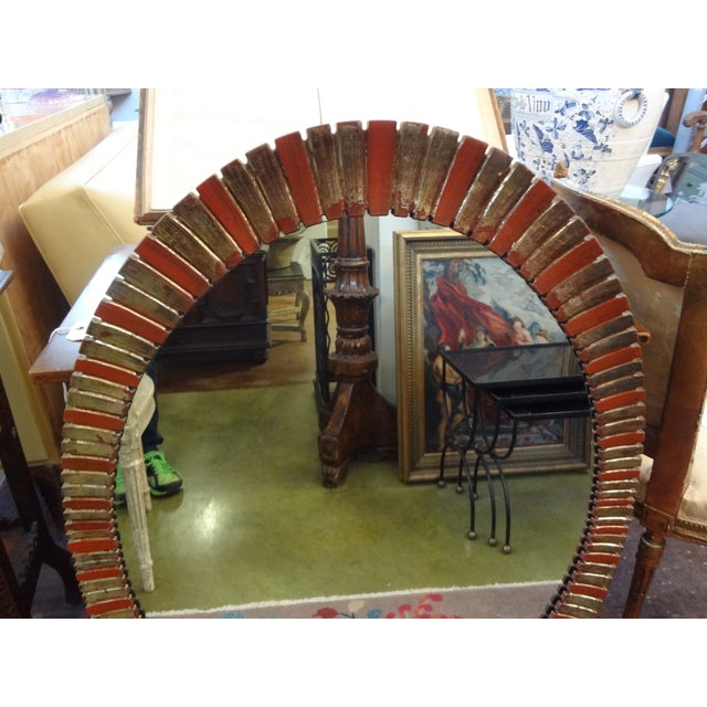 Image of Hollywood Regency Painted Oval Mirror