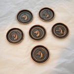 Image of Bronze Equestrian Horse Coasters - Set of 6
