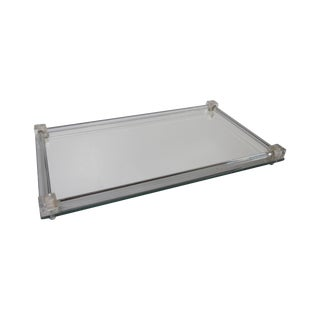 Lucite Hollywood Regency Vanity Serving Tray