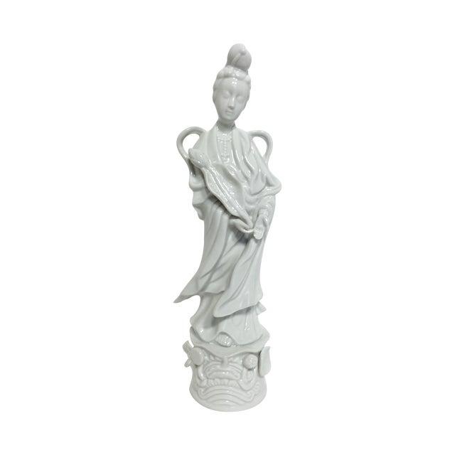 Blanc De Chine Kwan Yin Goddess Figure - Image 1 of 5