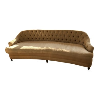 Custom Tufted Raw Silk Sofa