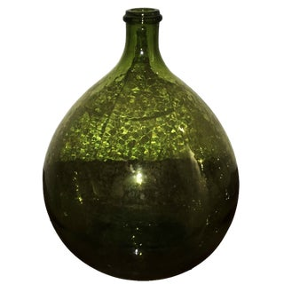 Argentinian Vintage Peridot Green Wine Jug