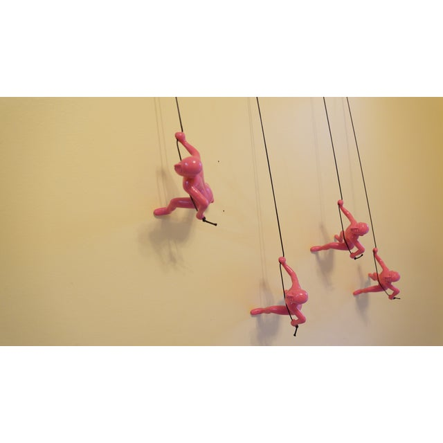 Pink Climbing Man Wall Art - Set of 4 - Image 5 of 7