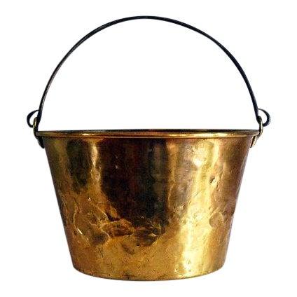 Antique Brass Bucket / Firewood Holder / Cauldron - Image 1 of 6