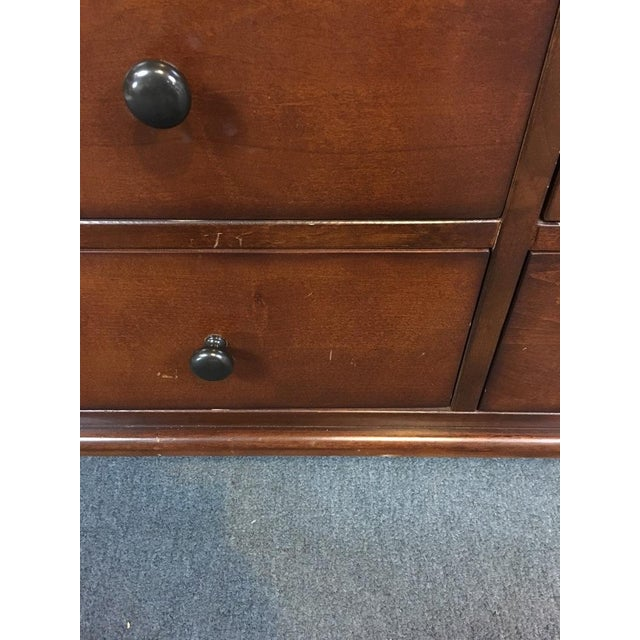 Pottery Barn Wood 'Laurel' 9-Drawer Wardrobe - Image 7 of 8