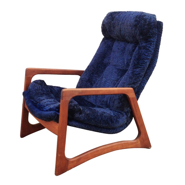 Adrian Pearsall for Craft Blue Lounge Chair - Image 1 of 10