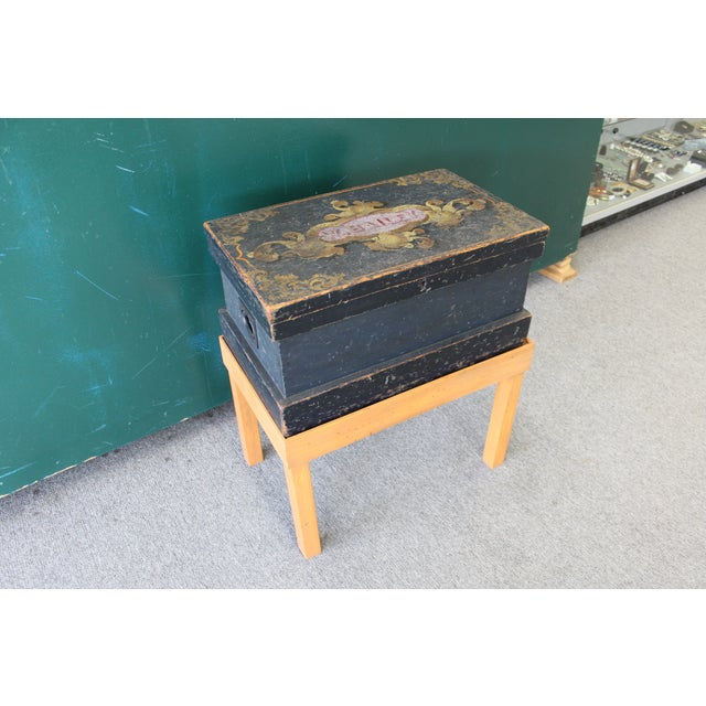 Antique Painted Craftsmen Tool Chest on Stand - Image 3 of 11
