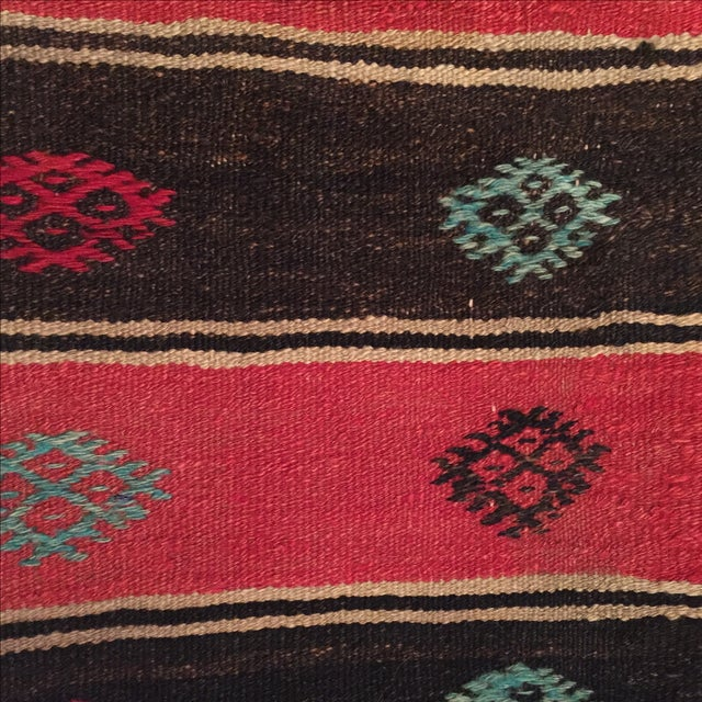 Vintage Striped Kilim Pillow - Image 4 of 5
