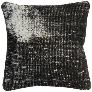 Vintage Black Handmade Overdyed Pillow Cover