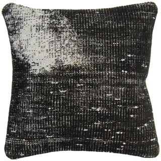 Vintage Black Handmade Overdyed Pillow Cover