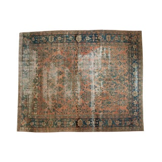 Antique Distressed Lilihan Carpet - 9' x 11'1""
