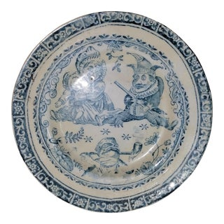 19th C. Child's 'Punch' Decorative Plate