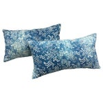Image of Faded Blue & White Batik Pillows - A Pair