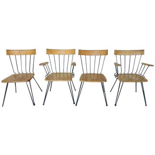 Woodard Wood & Iron Vintage Chairs - Set of 4