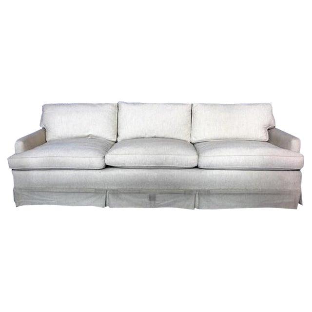Modern Down Filled Raw Silk Sofa Chairish
