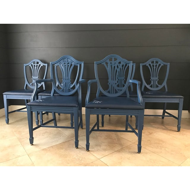 Image of Chippendale Style Dining Chairs - Set of 6