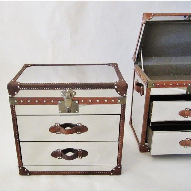 Restoration Hardware Trunk Chest Nightstands-Pair - Image 3 of 10