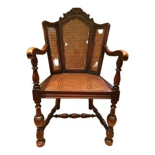 Antique Mahogany & Cane Chair