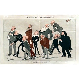 1907 La Vie Parisienne Stock Exchange Print