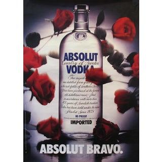 1985 Absolut Vodka Advertisement, Absolut Bravo