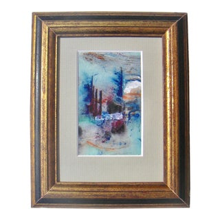 French Miniature Abstract Expressionist Painting