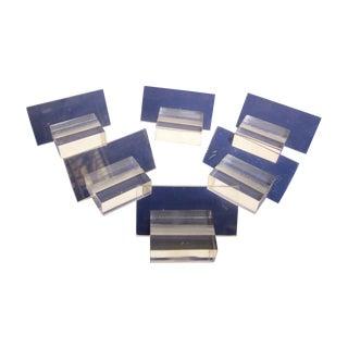 Lucite Desk Business Card Or Place Card Holder Set