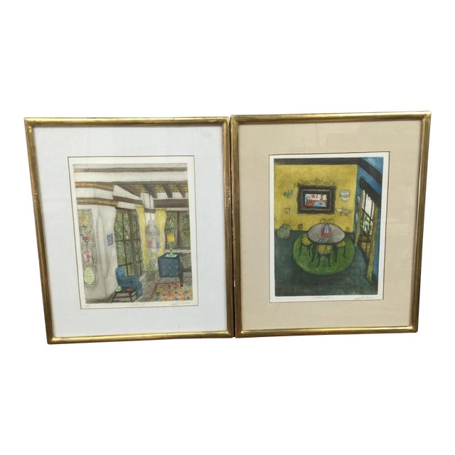 Romero Signed Interior Lithographs - A Pair - Image 1 of 9