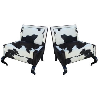 Pair of Pony Slipper Chairs