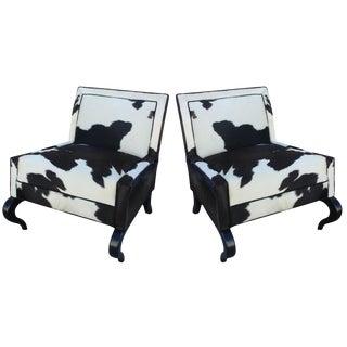 Pair of Pony Slipper Chairs