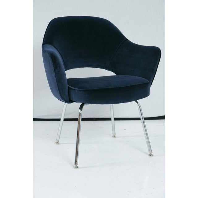 Image of Saarinen Executive Armchair, Navy Velvet