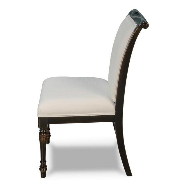 Sarreid Ltd Ebony Finished Dining Chairs- Set of 4 - Image 4 of 5