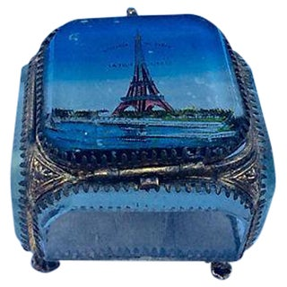 French Ormolu Trinket Box, Eiffel Tower