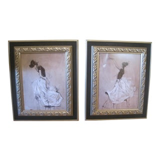 Framed Ballerina Prints- A Pair