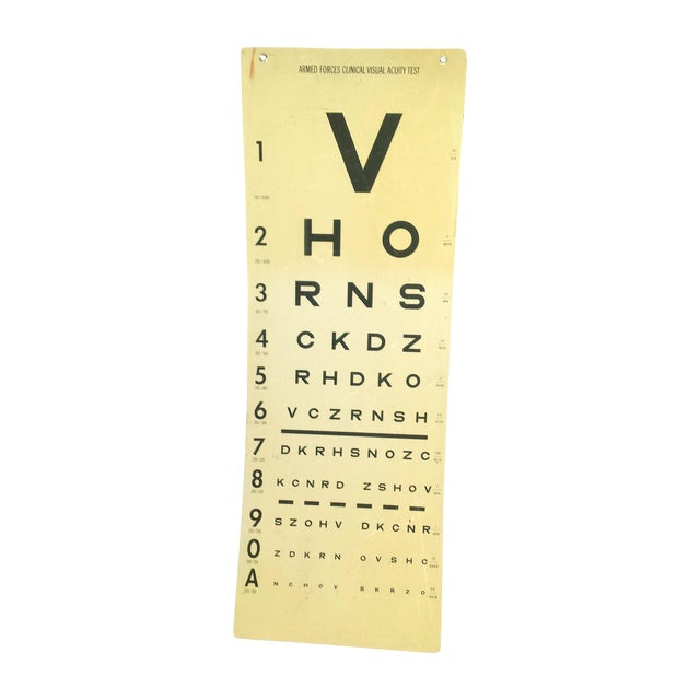 Image of Mid Century Vision Test Poster Optical Art
