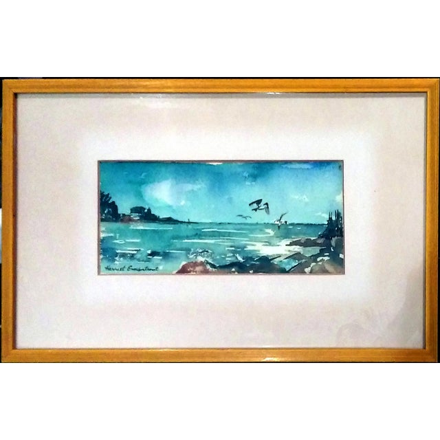Harriet Ermentrout Seascape Watercolor Painting - Image 2 of 9