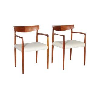 Danish Modern Arm Chairs by Knud Faerch, Pair