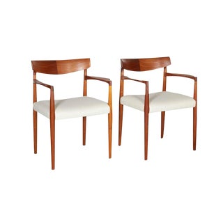 Danish Modern Arm Chairs by Knud Faerch, Pair