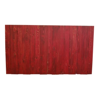 Queen Distressed Red Barn Wood Headboard