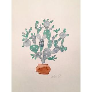 Sage Cactus Watercolor