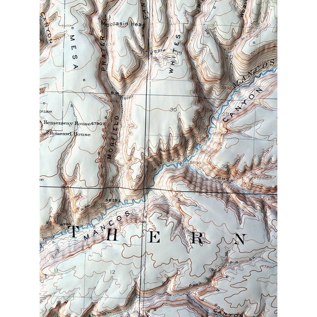 Vintage Relief Map of Soda Canyon Colorado - Image 3 of 6
