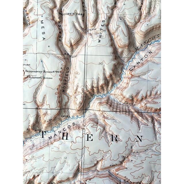Image of Vintage Relief Map of Soda Canyon Colorado