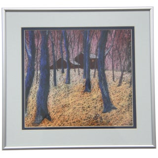 Snow Woods Pastel by C. Plowden
