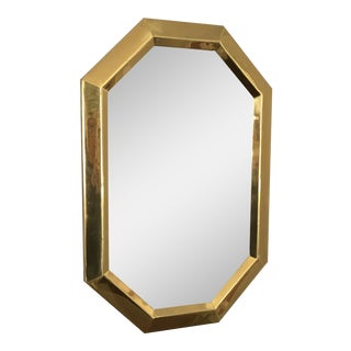 Beveled Brass Octagonal Mirror
