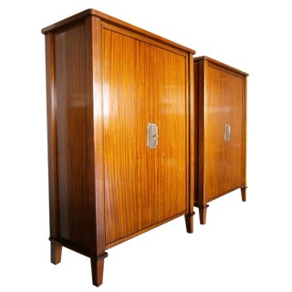 Art Moderne Mahogany Cabinets - A Pair