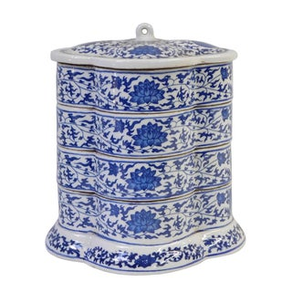 Blue & White Stacking Candy Box