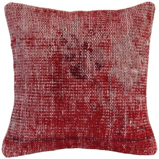 Vintage Overdyed Red Handmade Pillow Cover